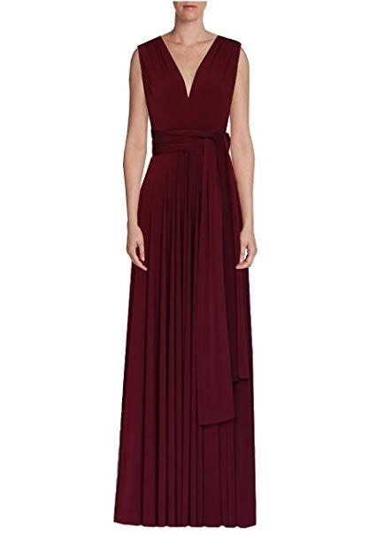 707fdb11de4 E K Infinity dress Long bridesmaid gown Convertible wedding multiway skirt  Plus size wrap clothing Review