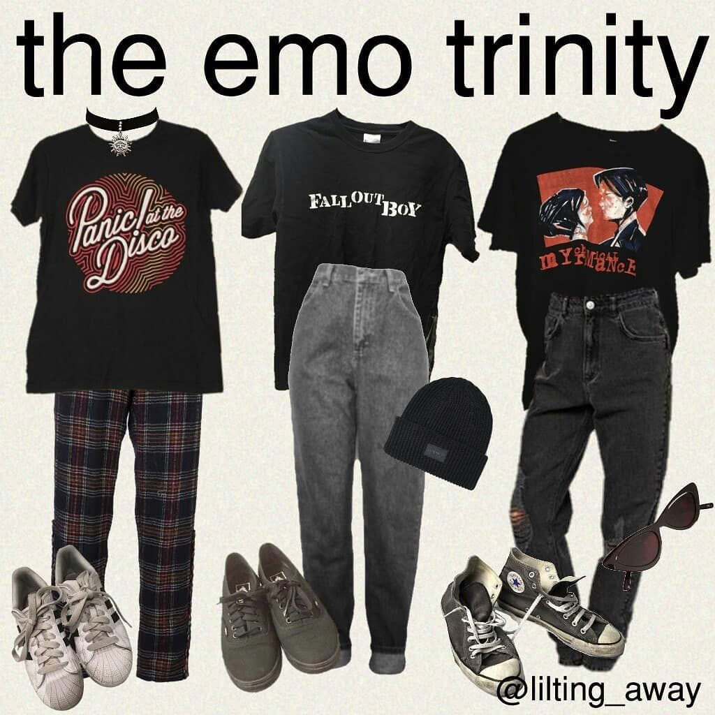 """☆ katelin ☆ on Instagram: """"✨hi tag yourself and state if you're a former or current emo✨ ✨hey there music police, this was the original emo trinity. no tøp and ik the…"""""""