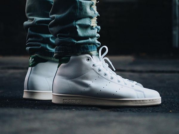 reputable site eefbf f5b0d Adidas Stan Smith Mid OG White Green