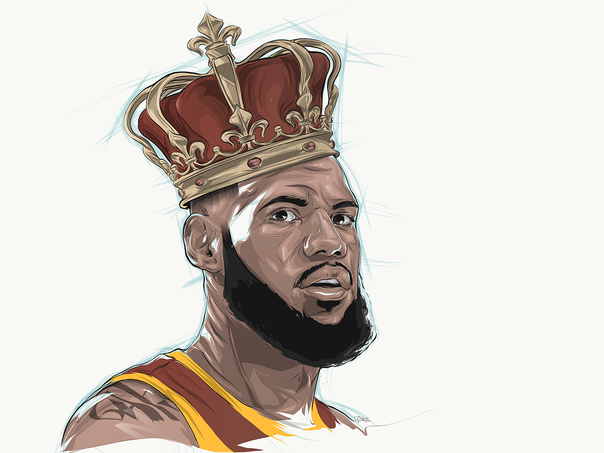 """Check out this Behance project """"King LeBron ESPN"""