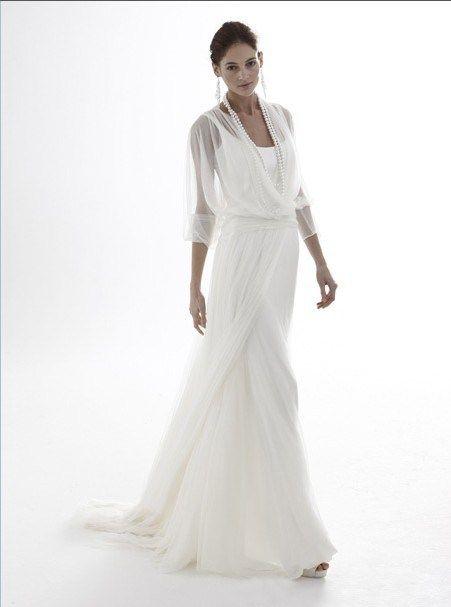 Simple Elegant Sheath Sweep Train Wedding Dress For Older Brides Over 40 50 60 70 Elegant Elegant White Prom Dresses White Prom Dress Wedding Dress Over 40