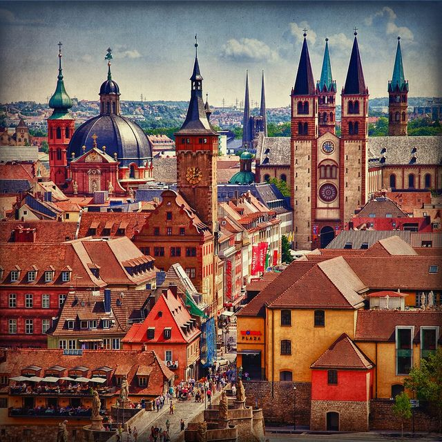 Spires of Wurzburg, Germany
