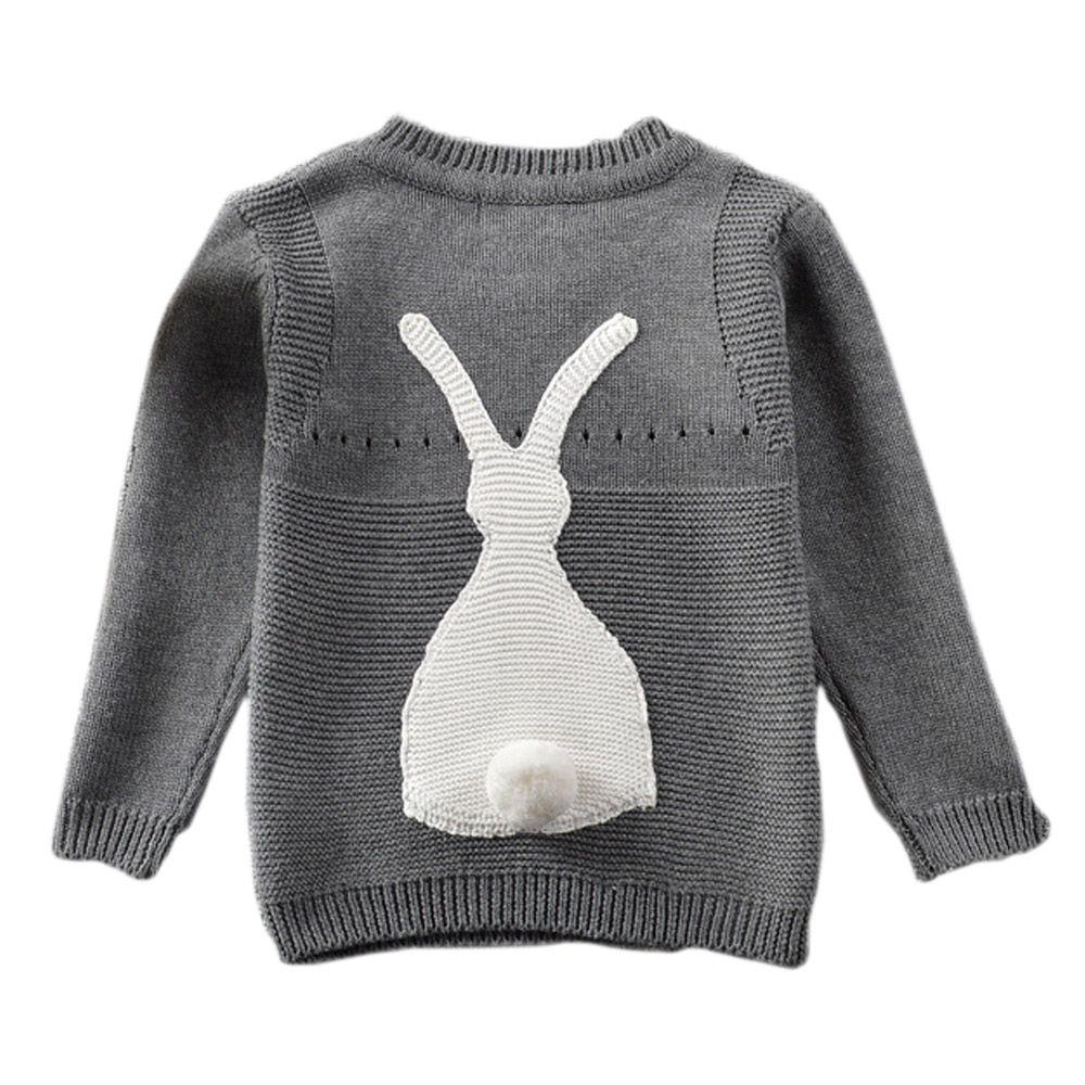 Unisex Baby Sweater, Cute Rabbit Knitwear, Baby Boy Pullover, Baby ...