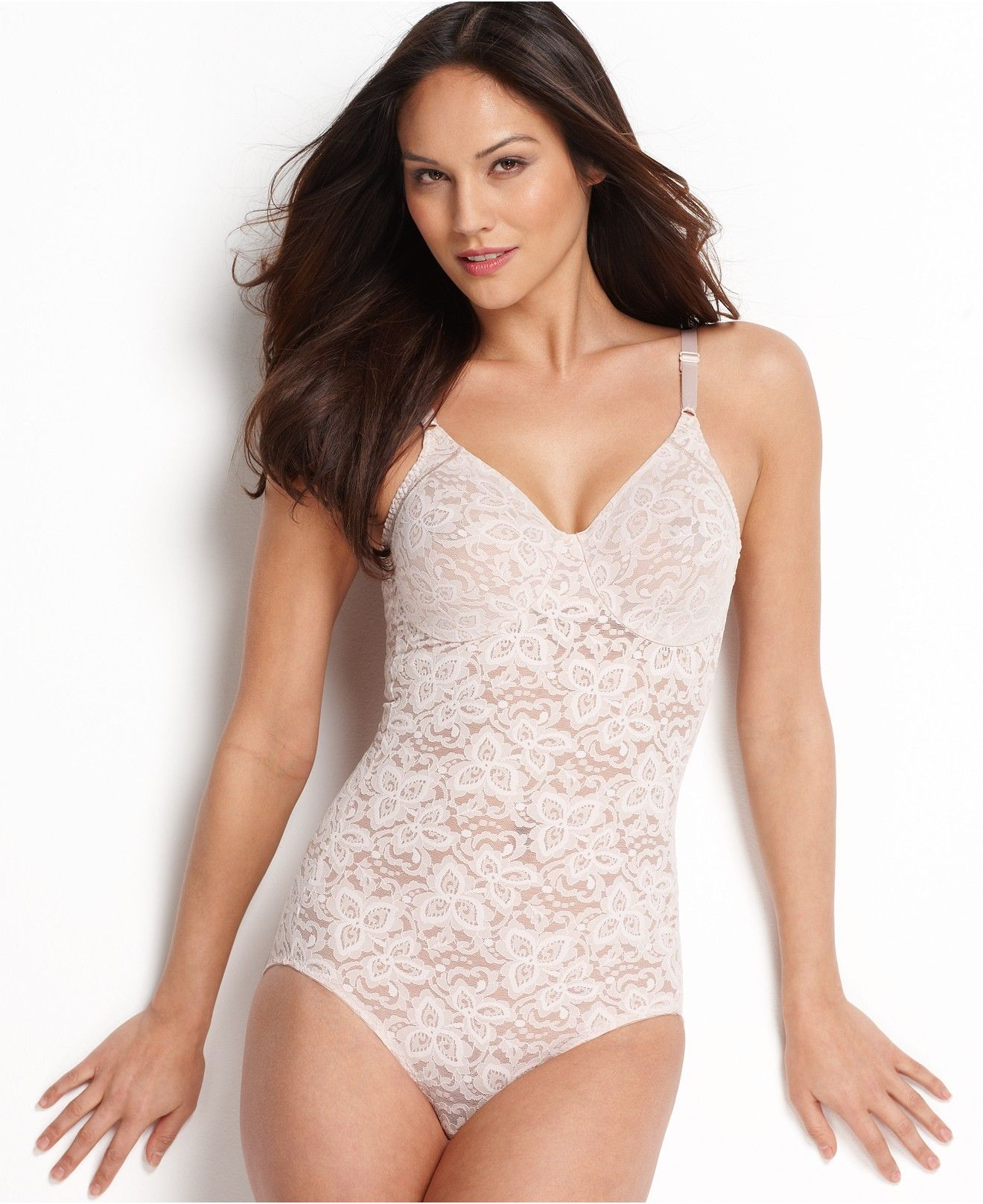 9be2b8ee016 Women s Firm Tummy-Control Lace N Smooth Body Shaper 8L10