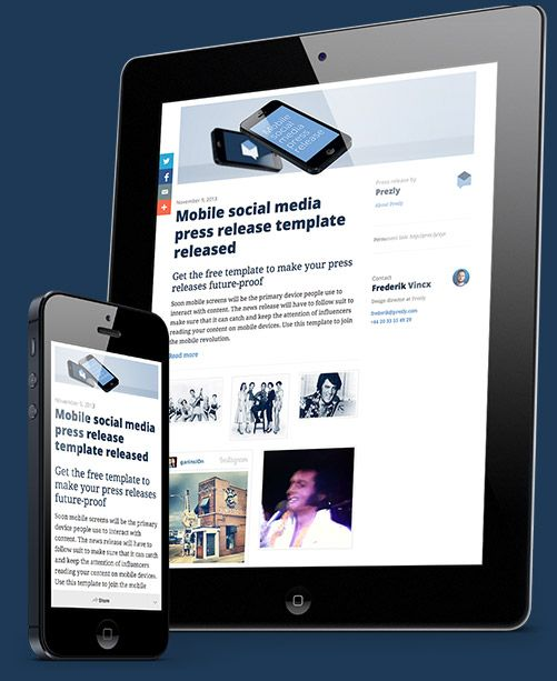 An open-source press release template that plays nice with social - press release template