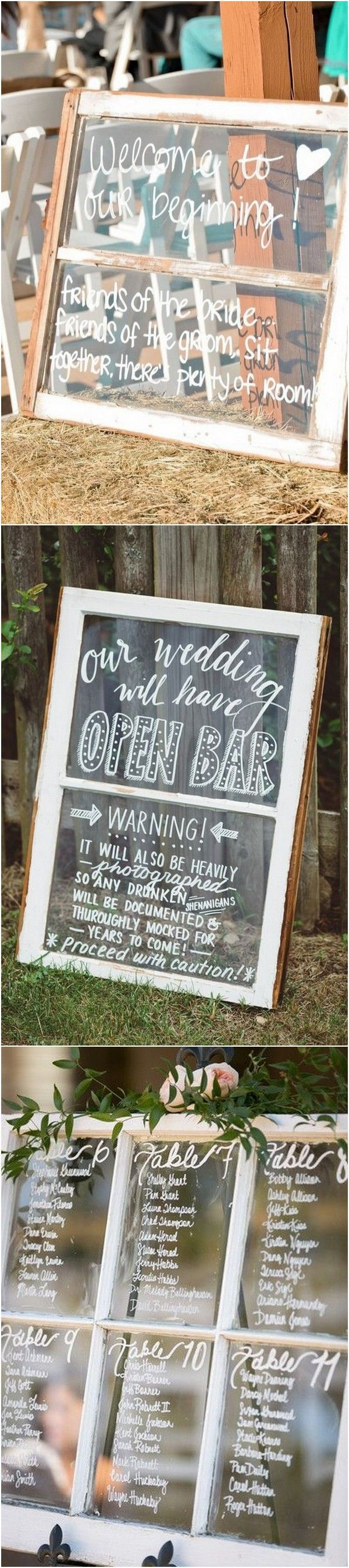Diy vintage wedding decoration ideas   DIY Wedding Decoration Ideas with Vintage Windows in