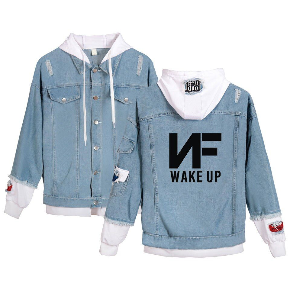 Nf Denim Jacket Hoody Men Women New Arrivals Fashion Harajuku Young Rapper Nate Feuerstein Hoodies Men S D Denim Jacket Fashion Denim Jacket Denim Jacket Women [ 960 x 960 Pixel ]