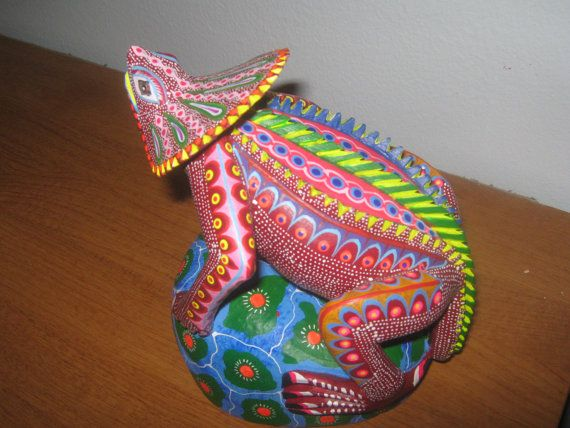 Iguana alebrije from oaxaca mexico mexican folk art