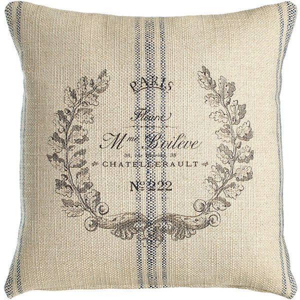 French Laundry Home Laurel Wreath Pillow 170 Liked On