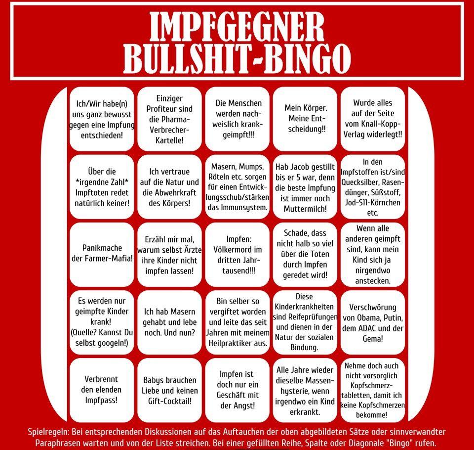 #impfgegner bullshit bingo | Lists... of any kind ️ Listen ...