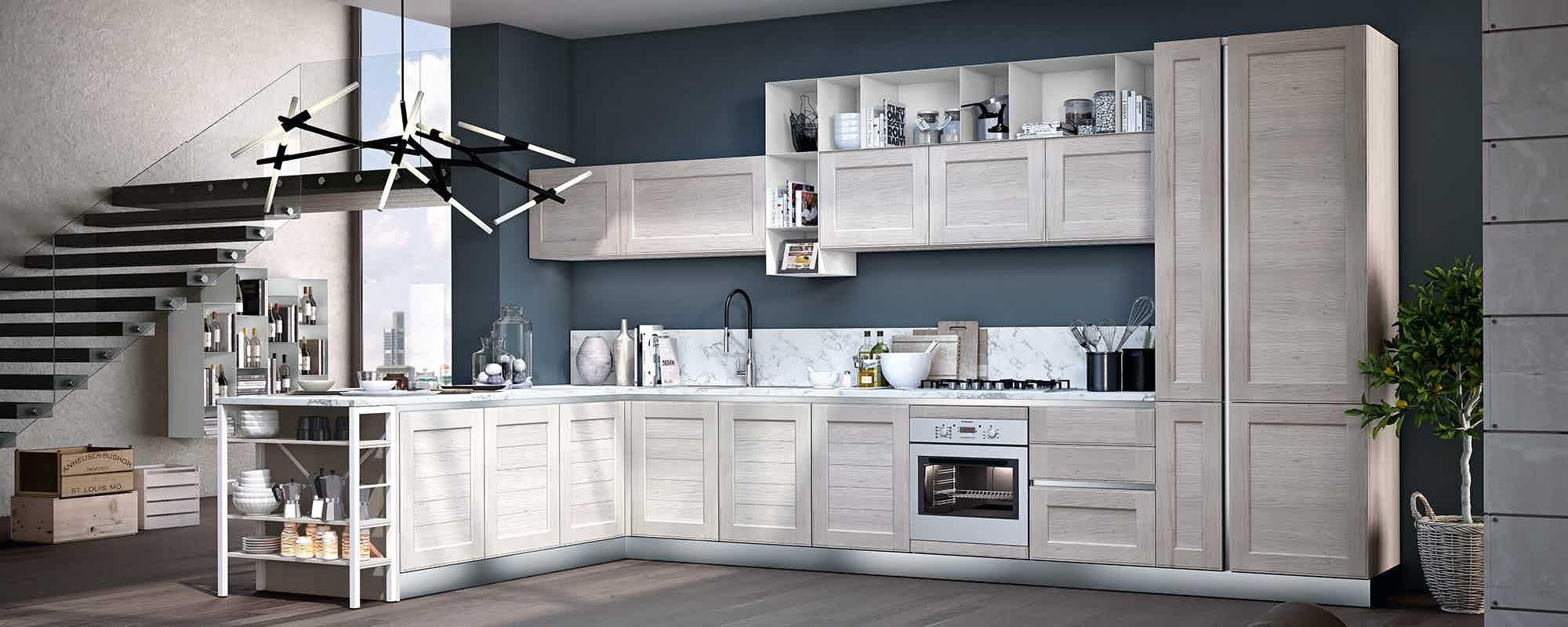 cucine moderne contemporanee stosa - modello cucina york 06 | blanco ...