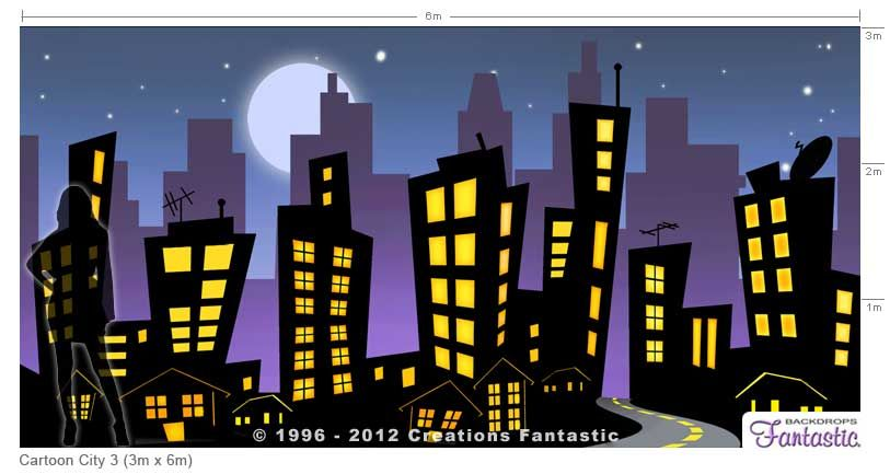 Backdrops For Sale City Cartoon City Background Avengers Theme
