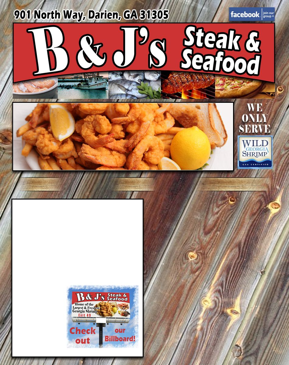 B And Js Steaks And Seafood Great Wild Georgia Shrimp Located In