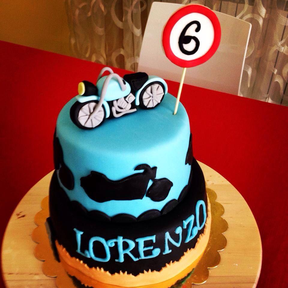 Motorbike cake happy birthday kid 6th Motorbike Cakes