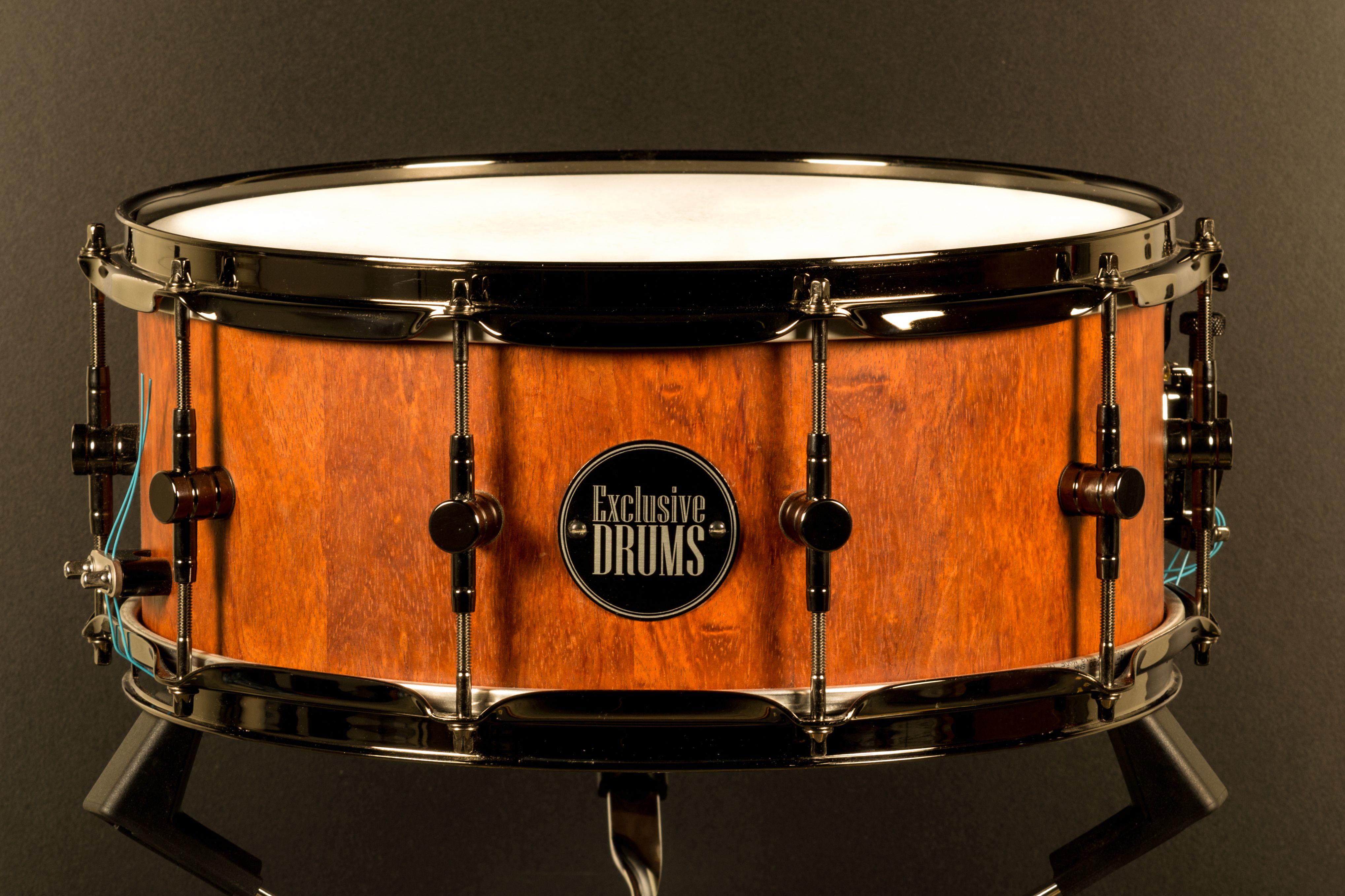 Bubinga X Stave Shell Snare Drum