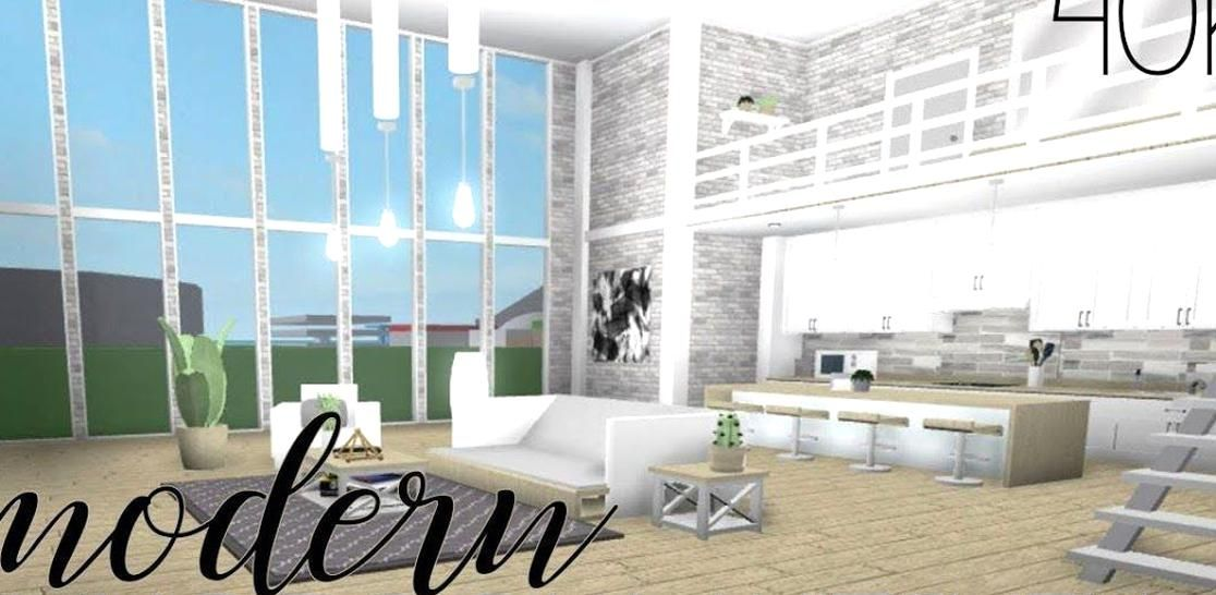 Roblox Wee To Bloxburg Modern Living Room Kitchen Bloxburg Room Tumblr Decorate Your House On Roblox Blox Aesthetic Bedroom Modern Living Room Cozy Aesthetic