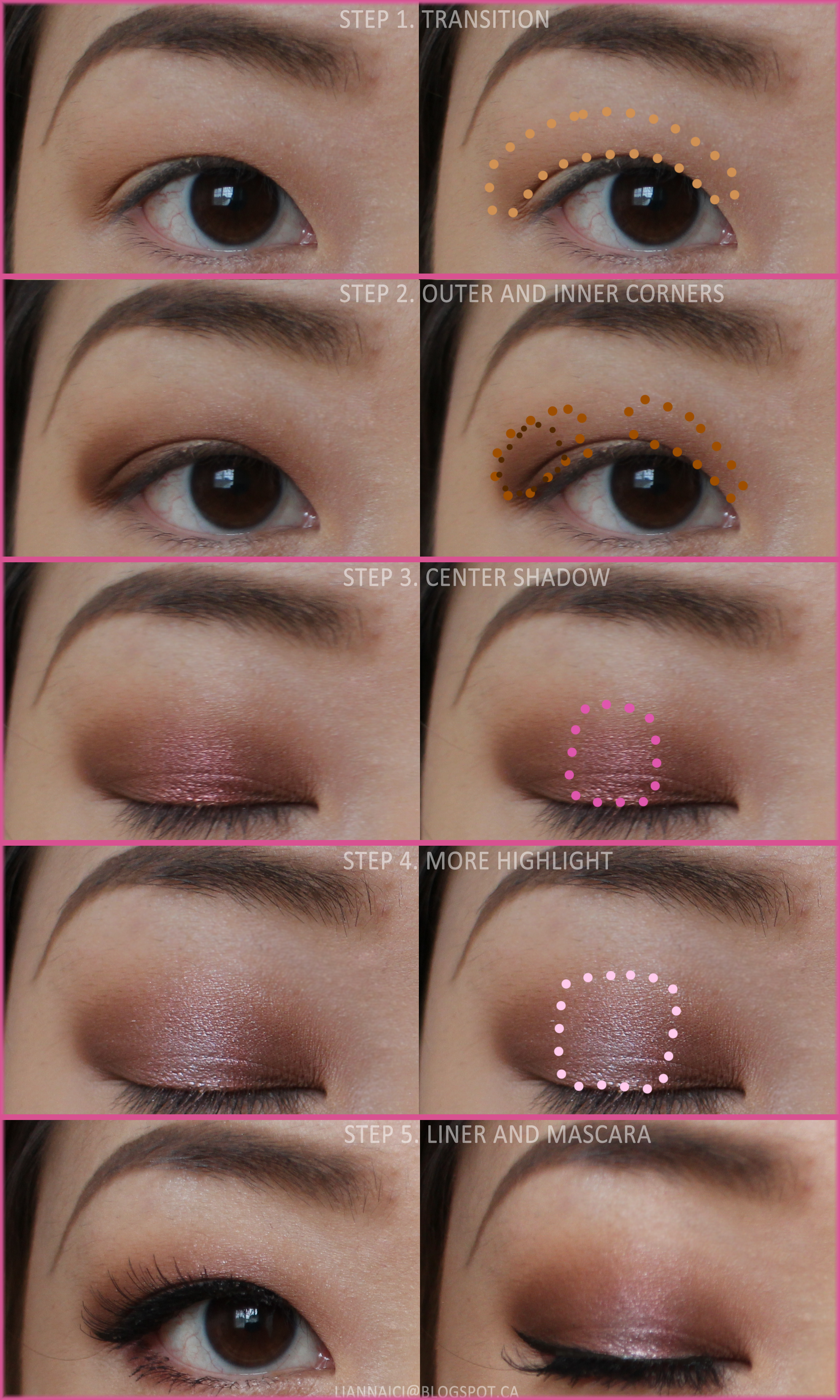 Soft Pink and Brown Halo Eye Makeup Tutorial Halo eye