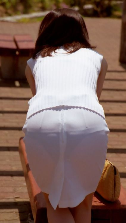 White Skirts And Dark Panties Are An Idea Whose Time Has