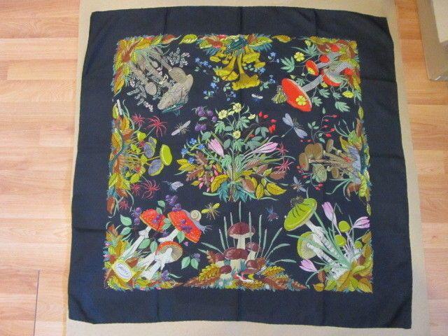 Accornero Mobili ~ Gucci v accornero mushroom toadstool and insect silk scarf black