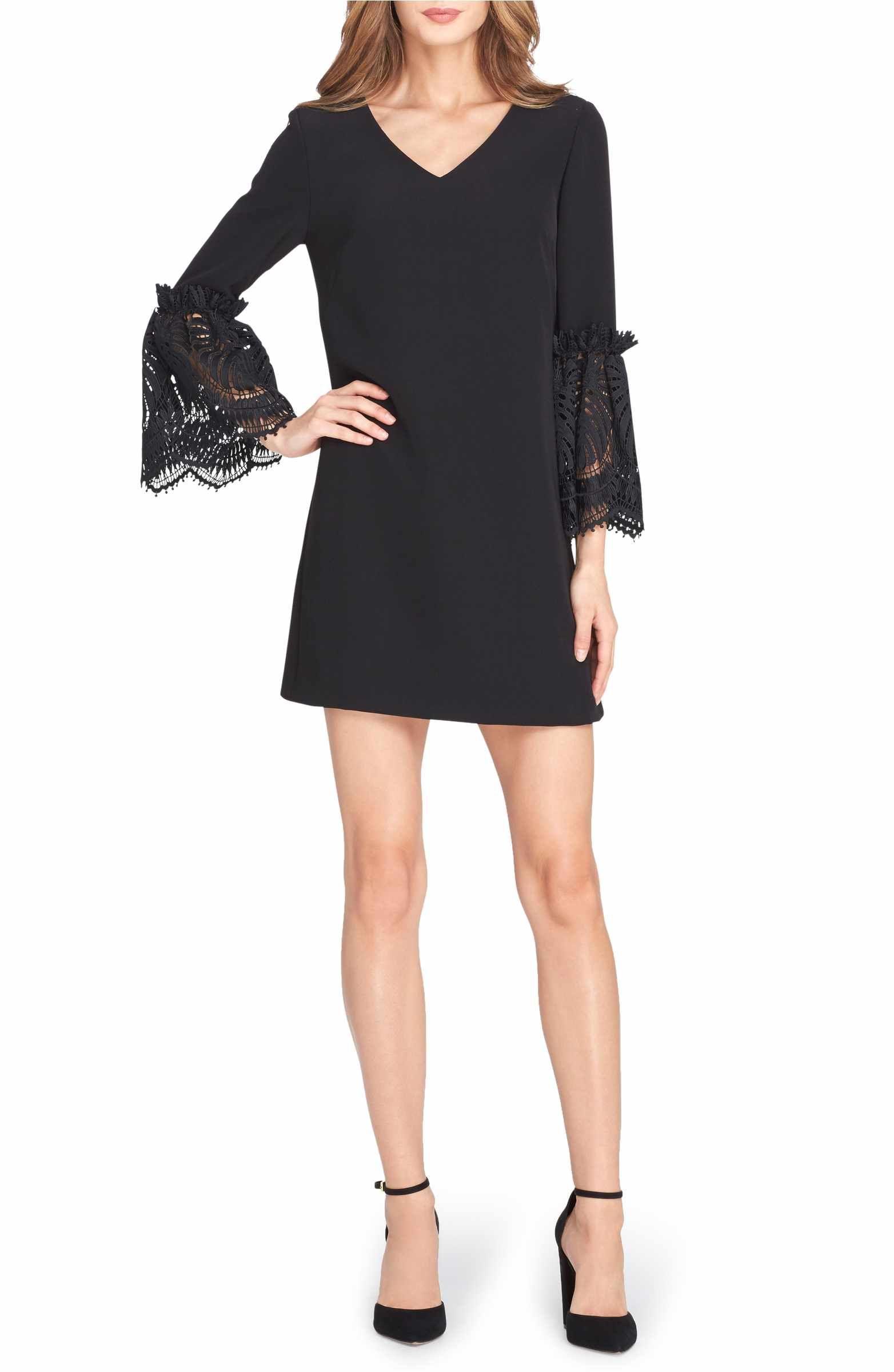 Nordstrom black dresses with sleeves