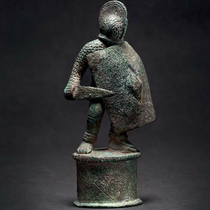 A Roman bronze statue of a gladiator, 3rd century A.D.