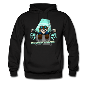 Mens dantdm hoodie dantdm pinterest minecraft - Diamond minecart theme song ...