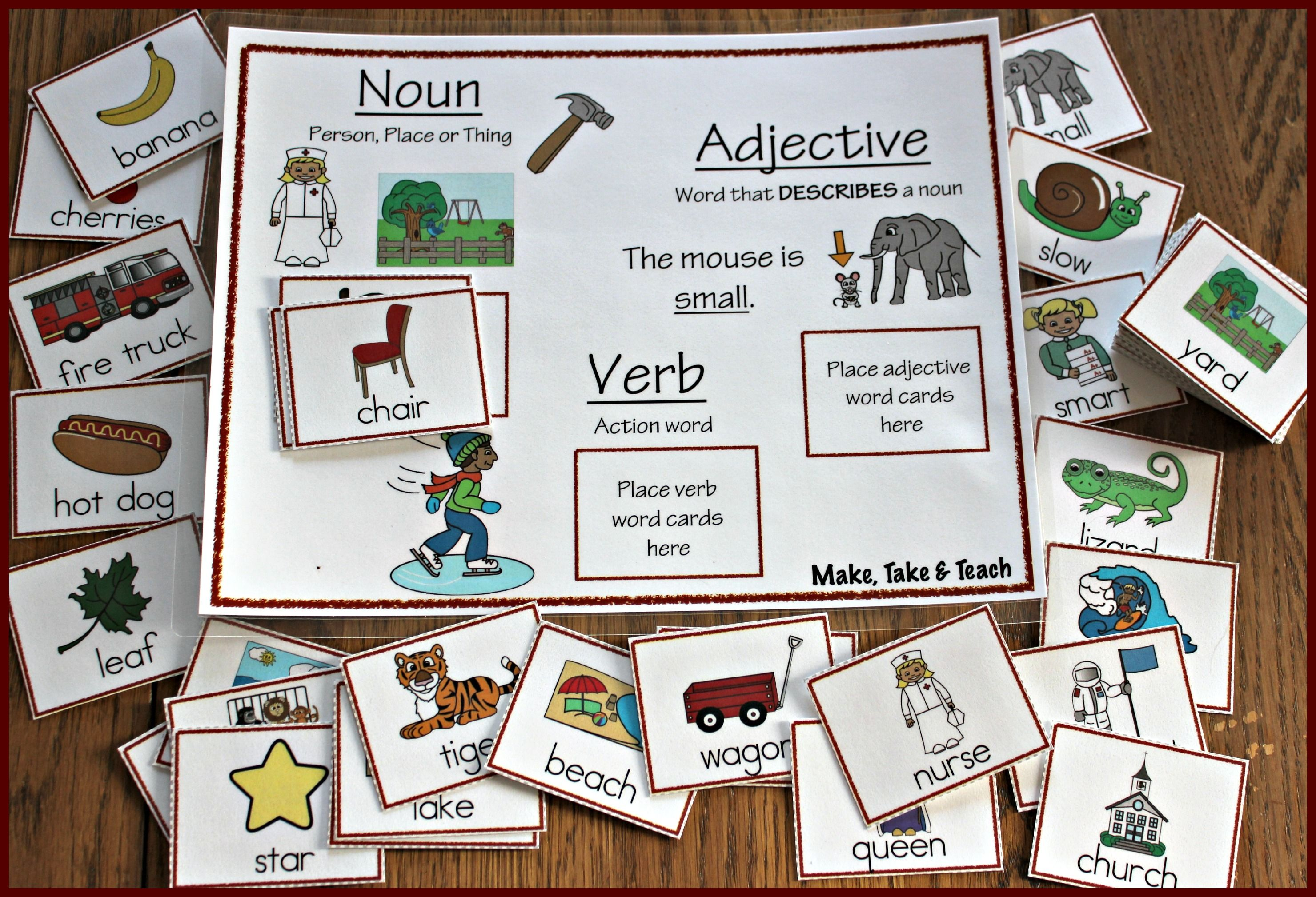 Noun Town K2 Kindergarten Activities Teaching Kindergarten