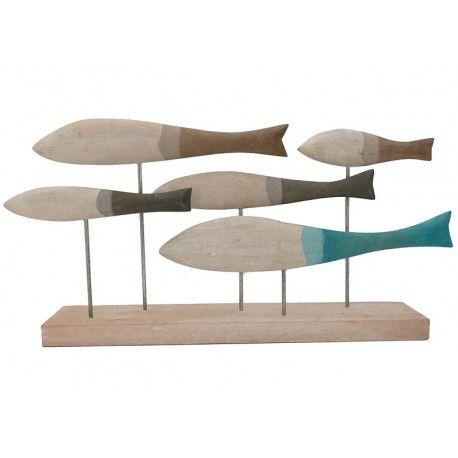 decoracin del hogar en de madera para decoracin figura de peces