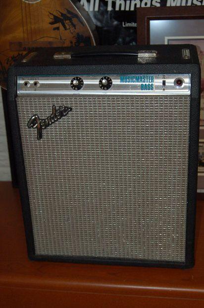 vintage fender silverface musicmaster bass amp 1978 black tolex fender 12 inch speaker reverb. Black Bedroom Furniture Sets. Home Design Ideas