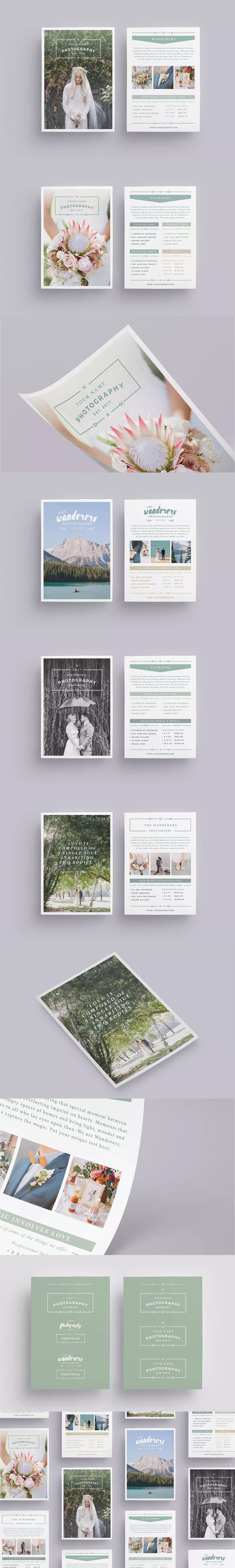 wanderers wedding flyer price list template indd psd a6 us small