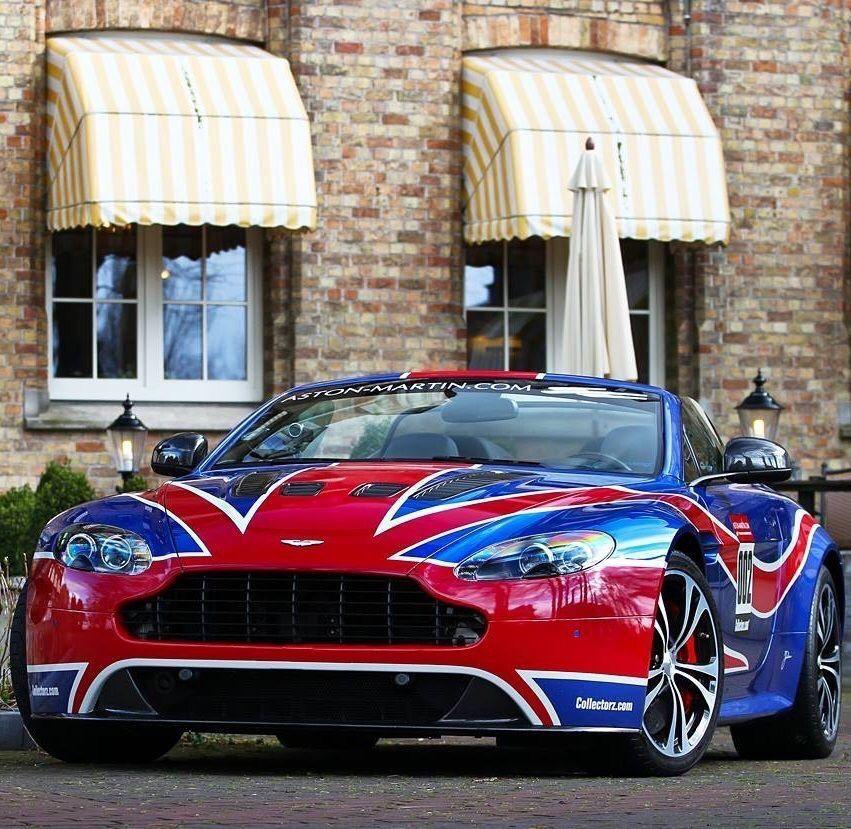 Superb Aston Martin DB9 Painting British Flag