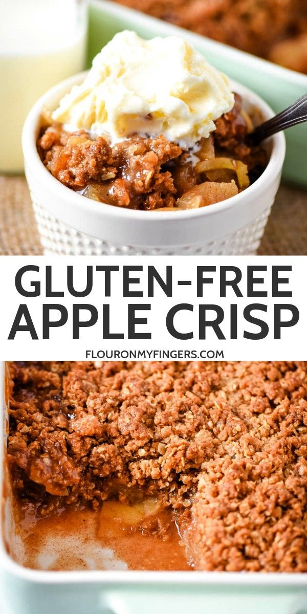 a simple and easy glutenfree apple crisp with a crispy cinnamon brown sugar oatmeal topping Best served with a scoop of vanilla ice creamBake a simple and easy glutenfree...