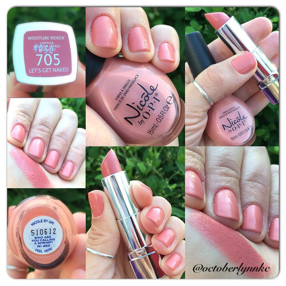 I found a close nail polish match for my favorite nude lipstick ...