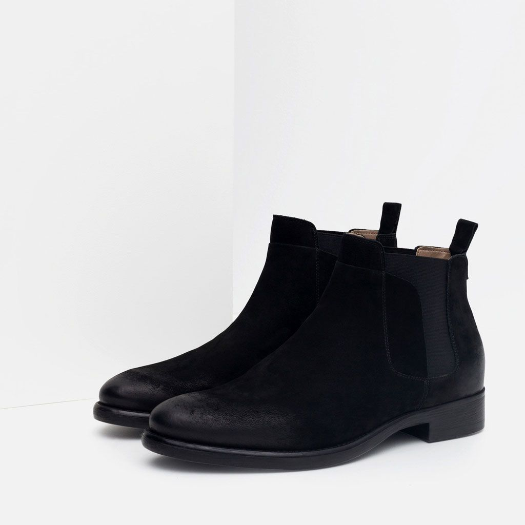 LEATHER CHELSEA BOOTS-Boots & ankle boots-Shoes-MAN | ZARA United States
