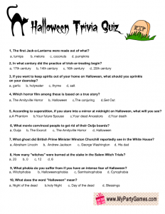 Halloween Trivia Game Printable Halloween Game Ideas Halloween