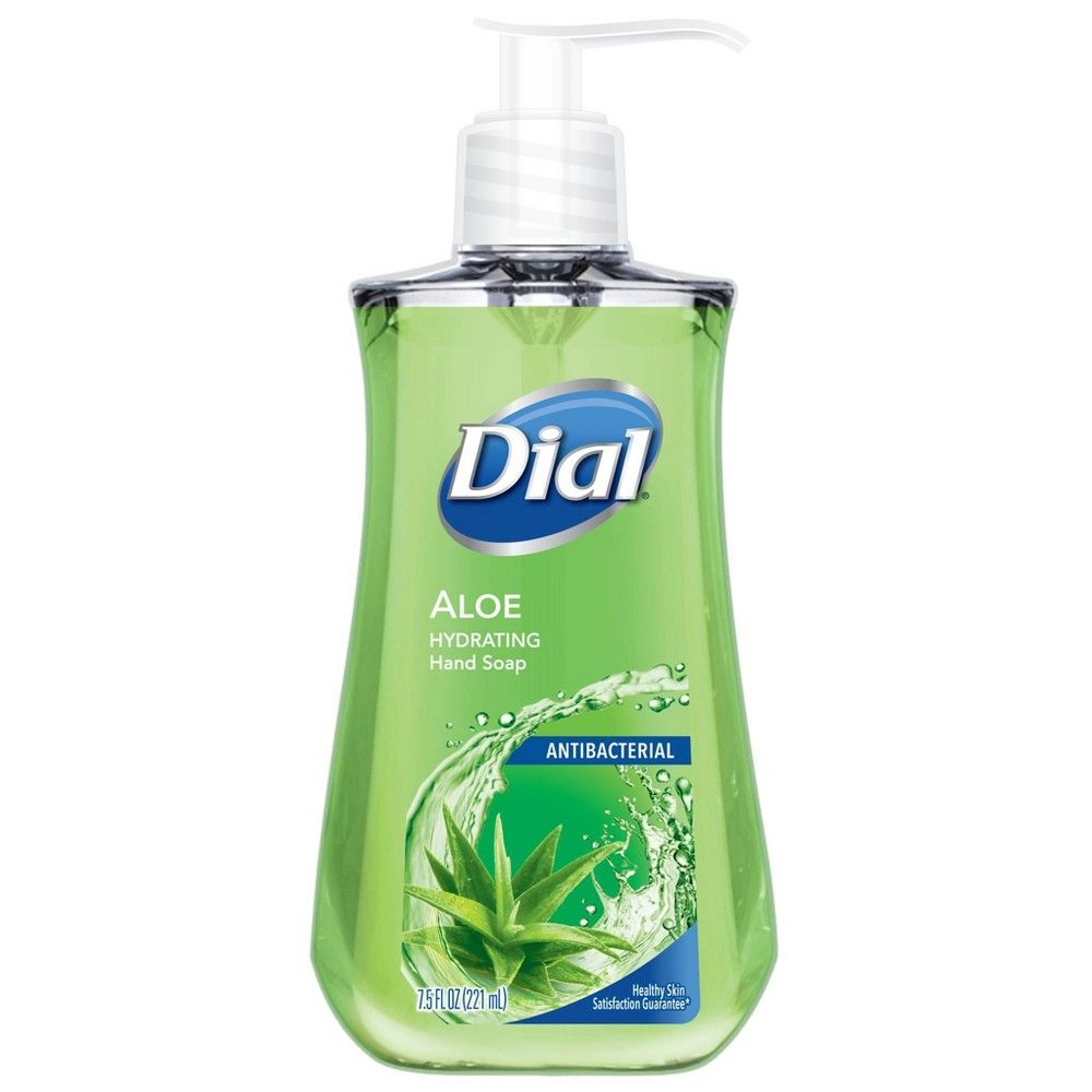 Dial Antibacterial Aloe Liquid Hand Soap 7 5oz Adult Unisex In