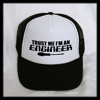 20ef17bfe58 Trust Me I m An Engineer Trucker Hat Cap Mesh Snap Back Snapback Nerd Geek
