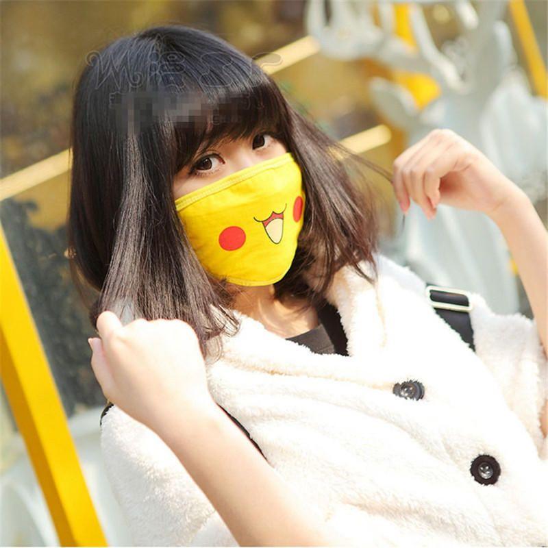 1pc Pokemon Pikachu Cute Face Masks Anti Dust New Anime Pocket