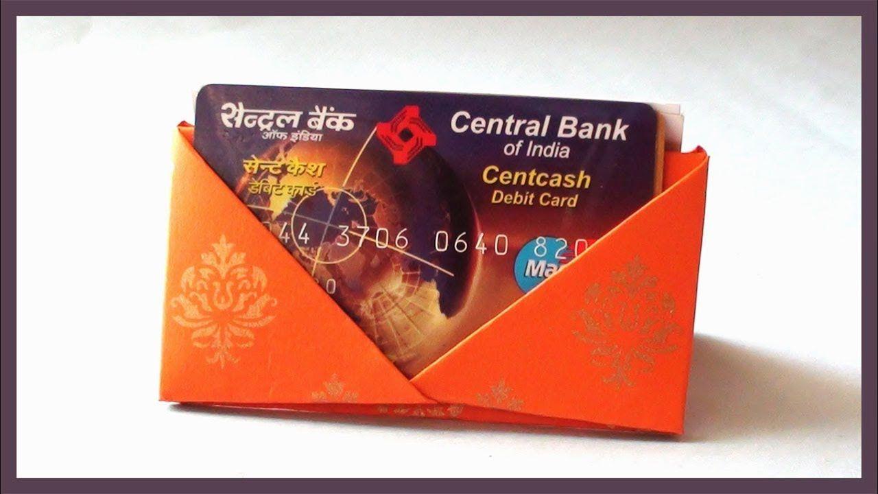 Diy Card Holder Origami For Debit Credit Or Business Cards Youtube Card Holder Diy Diy Cards Card Holder