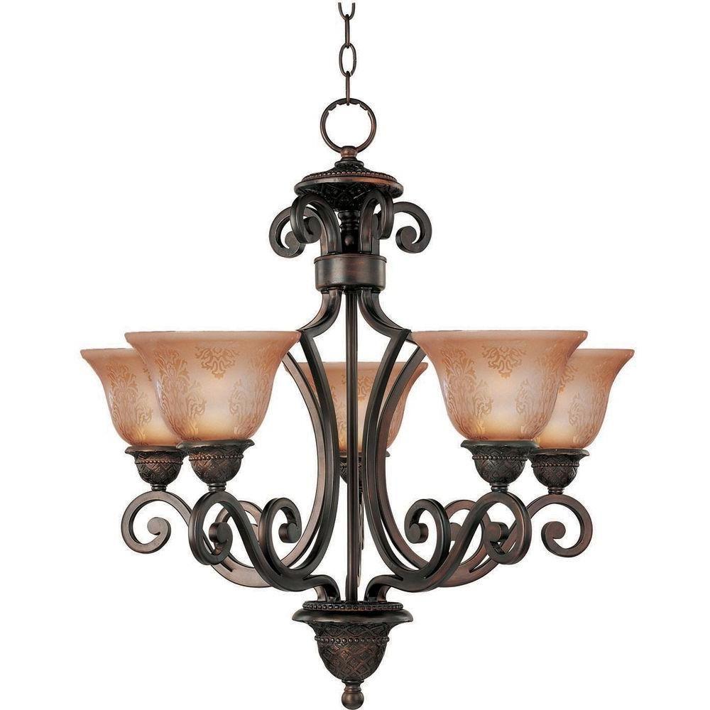 Maxim Lighting Symphony 5-Light Oil Rubbed Bronze Chandelier-11244SAOI - The Home Depot