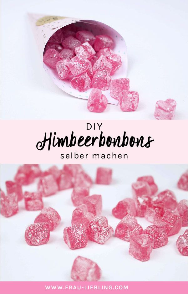 Rezept: Himbeerbonbons einfach selber machen #homemadesweets