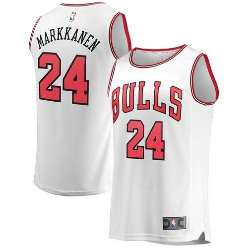7aec489c720 Lauri Markkanen Chicago Bulls Fanatics Branded Fast Break Replica Jersey  White - Association Edition, Size