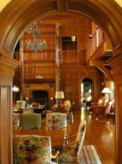 Wonderful wood detailing throughout the entire room!