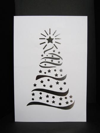 Swirly Stencil Christmas Card Gsd On Craftsuprint Designed By Anne Huxter A Beautiful Classic Design A5 In Size Please Note Christmas Card Template Christmas Cards Christmas Templates