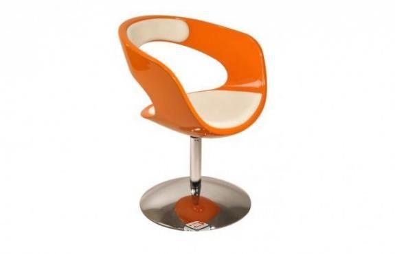 Sillón / silla de diseño naranja y blanco groovy en Madrid ...