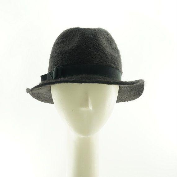 a43fb6dcc Gray Beaver Fedora Hat Boho Hat for Women Felt by TheMillineryShop ...