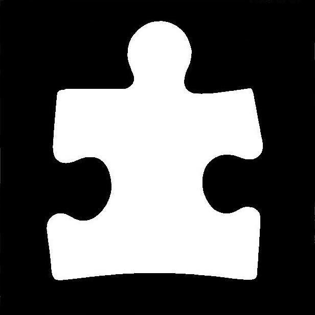 Puzzle Piece Stencil. Autism Awareness Glitter Tattoo. Www