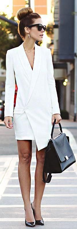 All white is office-chic.