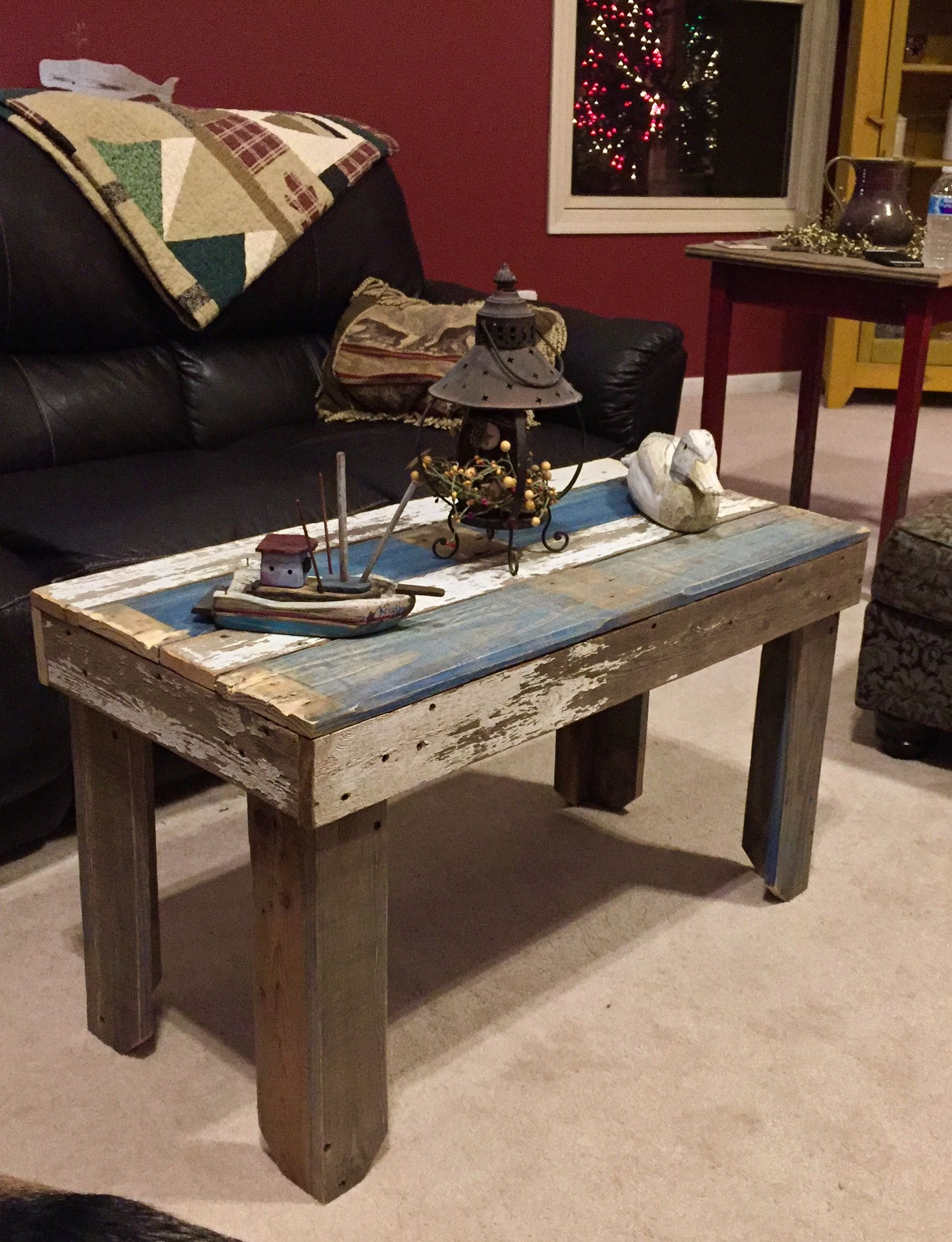 Primitive Style Coffee Table Sofa Table Crafted From Local Barn
