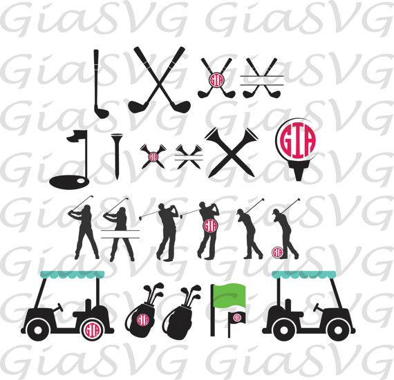 Download Golf Monogram SVG golf split svg golf clipart svg ready by ...